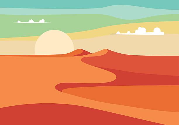 現実的な中東の砂漠です。ベクトルイラストレーション編集 - 砂漠点のイラスト素材/クリップアート素材/マンガ素材/アイコン素材