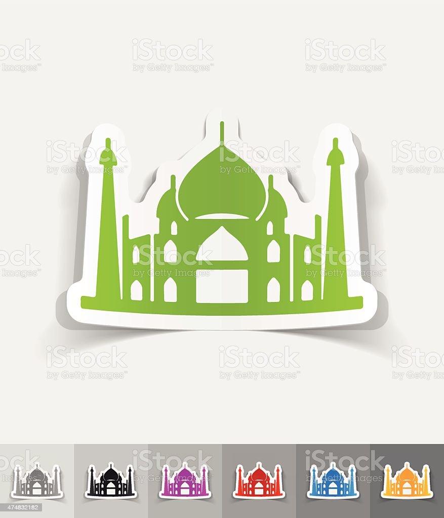 realistic design element. arabic palace vector art illustration