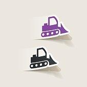 realistic design element: bulldozer