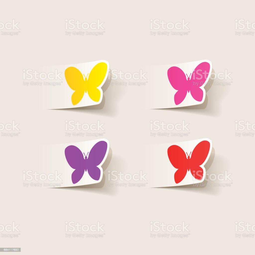 realistic design element: butterfly realistic design element butterfly - stockowe grafiki wektorowe i więcej obrazów biologia royalty-free