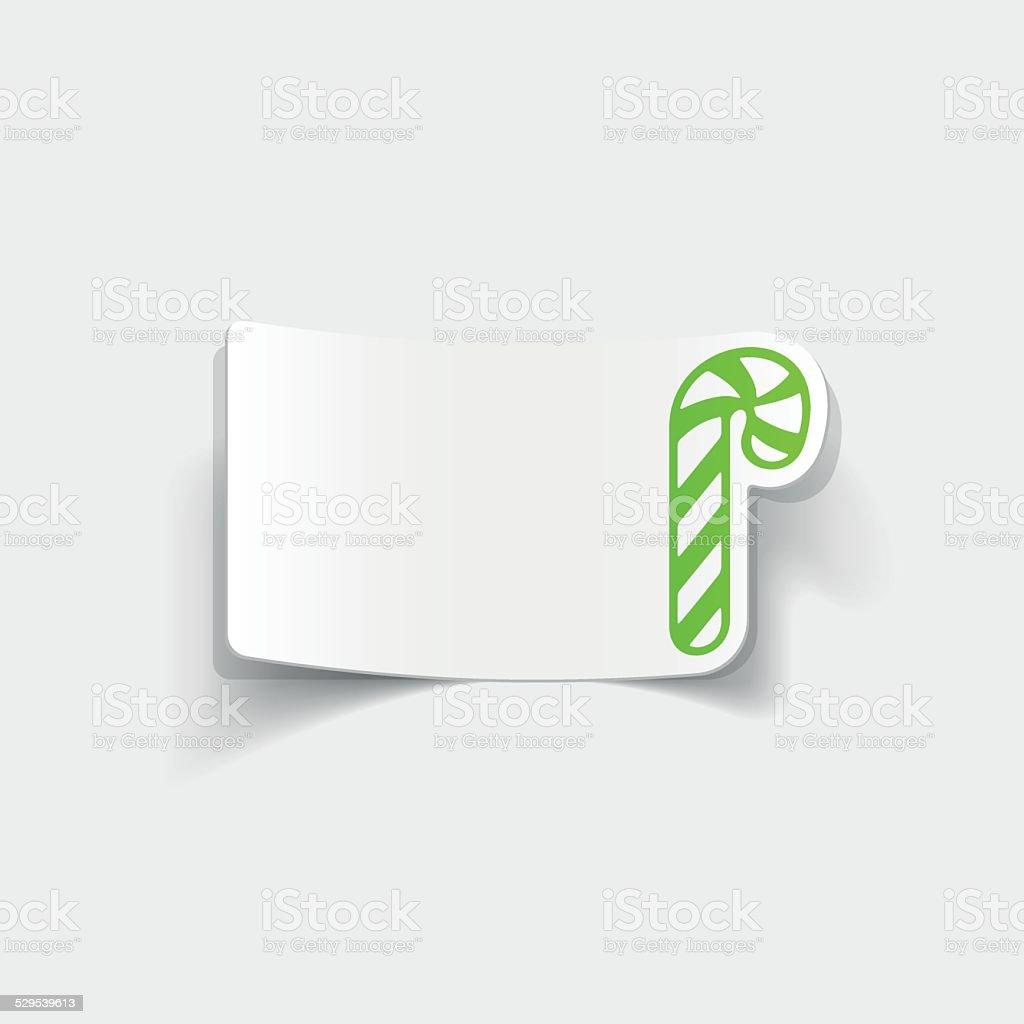 realistic design element: candy cane vector art illustration