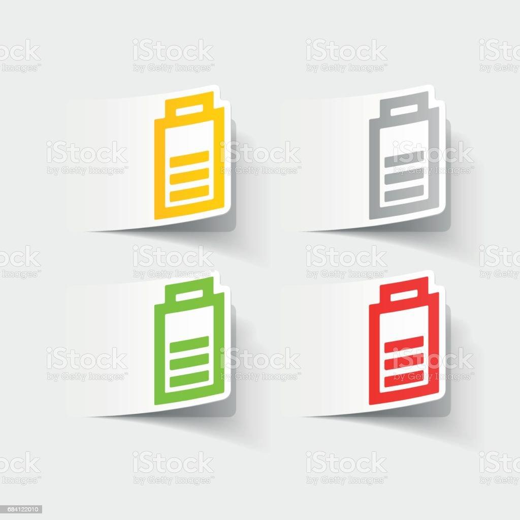 realistic design element: charge the battery realistic design element charge the battery - immagini vettoriali stock e altre immagini di affari finanza e industria royalty-free