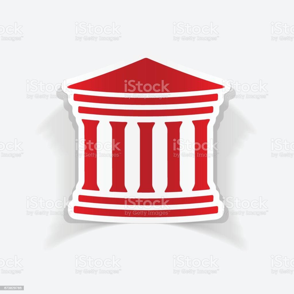 gerçekçi tasarım öğesi: Adliye Sarayı royalty-free gerçekçi tasarım öğesi adliye sarayı stok vektör sanatı & adalet'nin daha fazla görseli