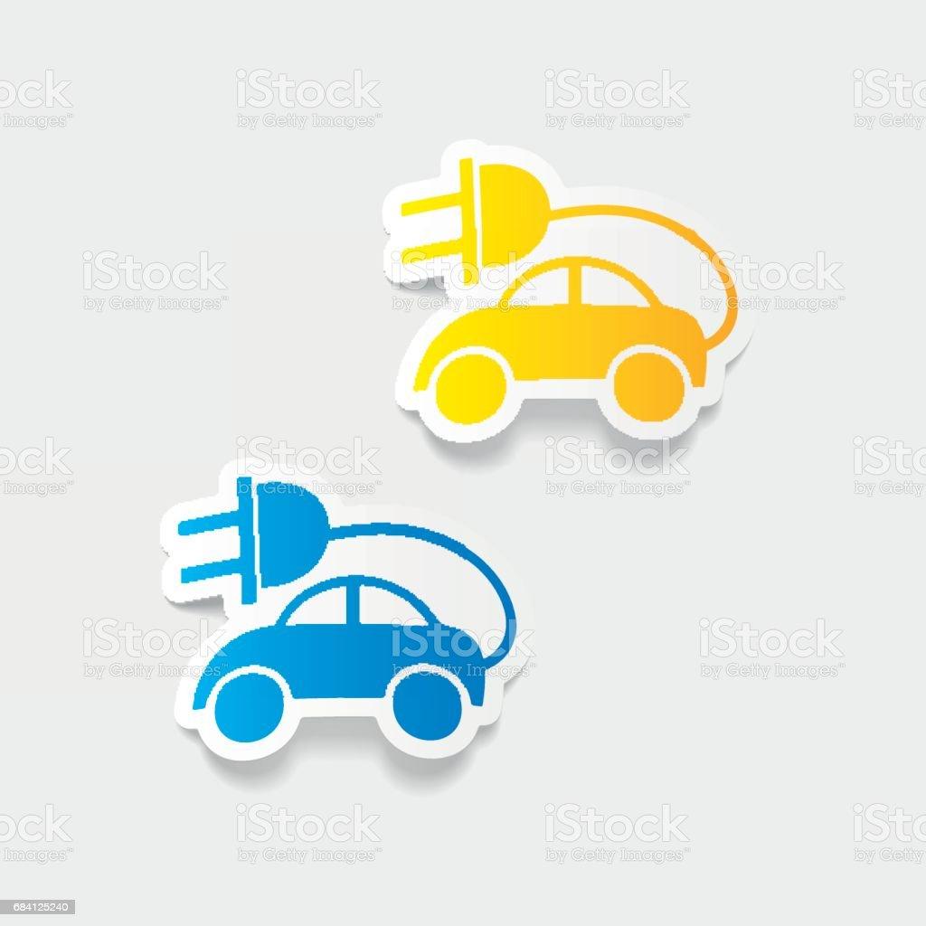 realistic design element: eco car realistic design element eco car - stockowe grafiki wektorowe i więcej obrazów analizować royalty-free