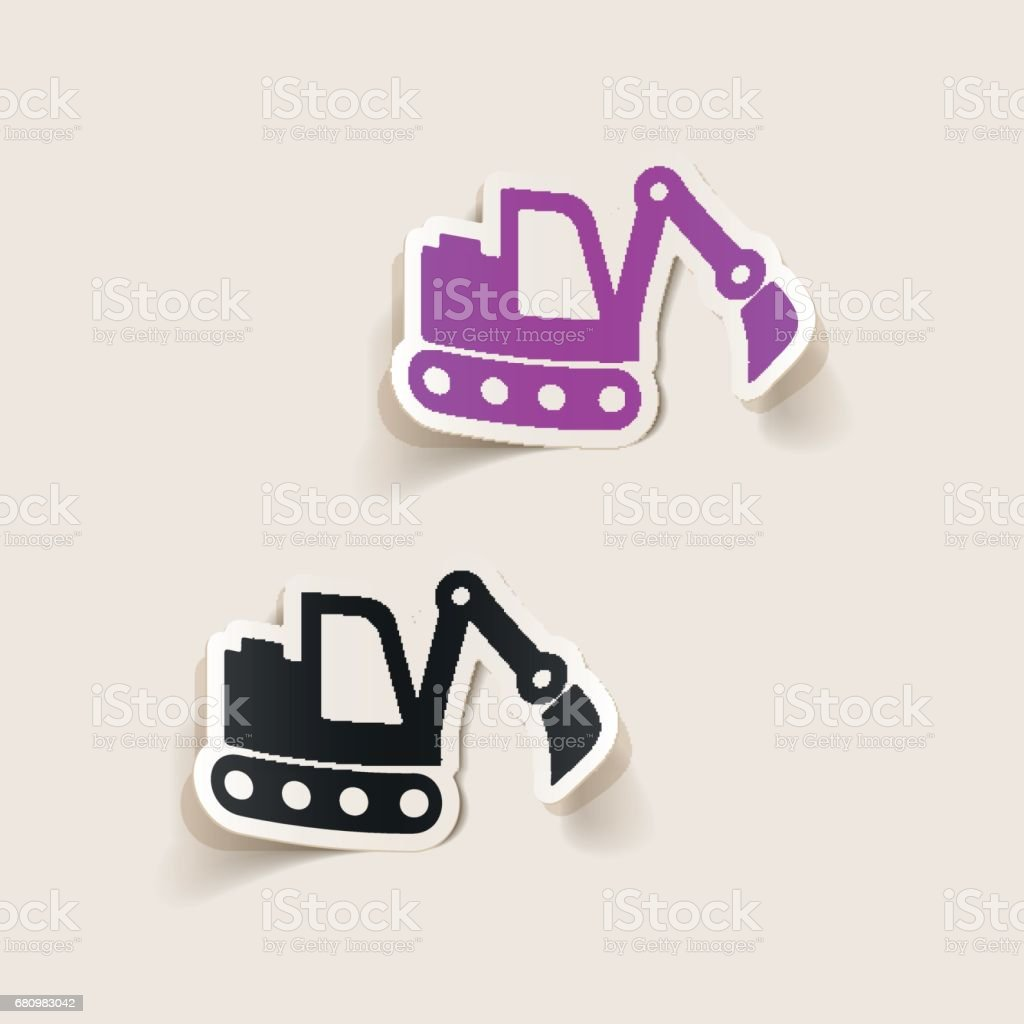 realistic design element: excavator royalty-free realistic design element excavator stock vector art & more images of archaeology