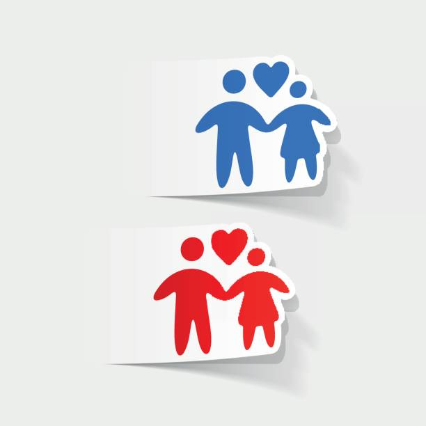 illustrazioni stock, clip art, cartoni animati e icone di tendenza di realistic design element: family - holiday and invoice family