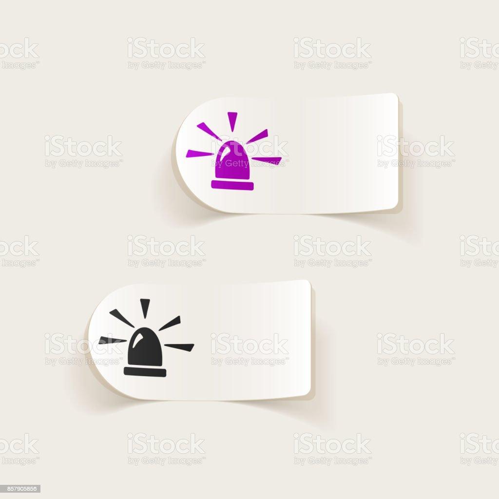 realistic design element. flasher vector art illustration