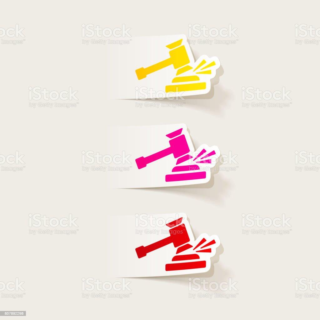 realistic design element: gavel vector art illustration