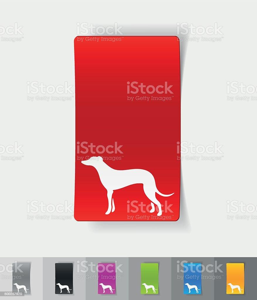 realistic design element. greyhound vector art illustration