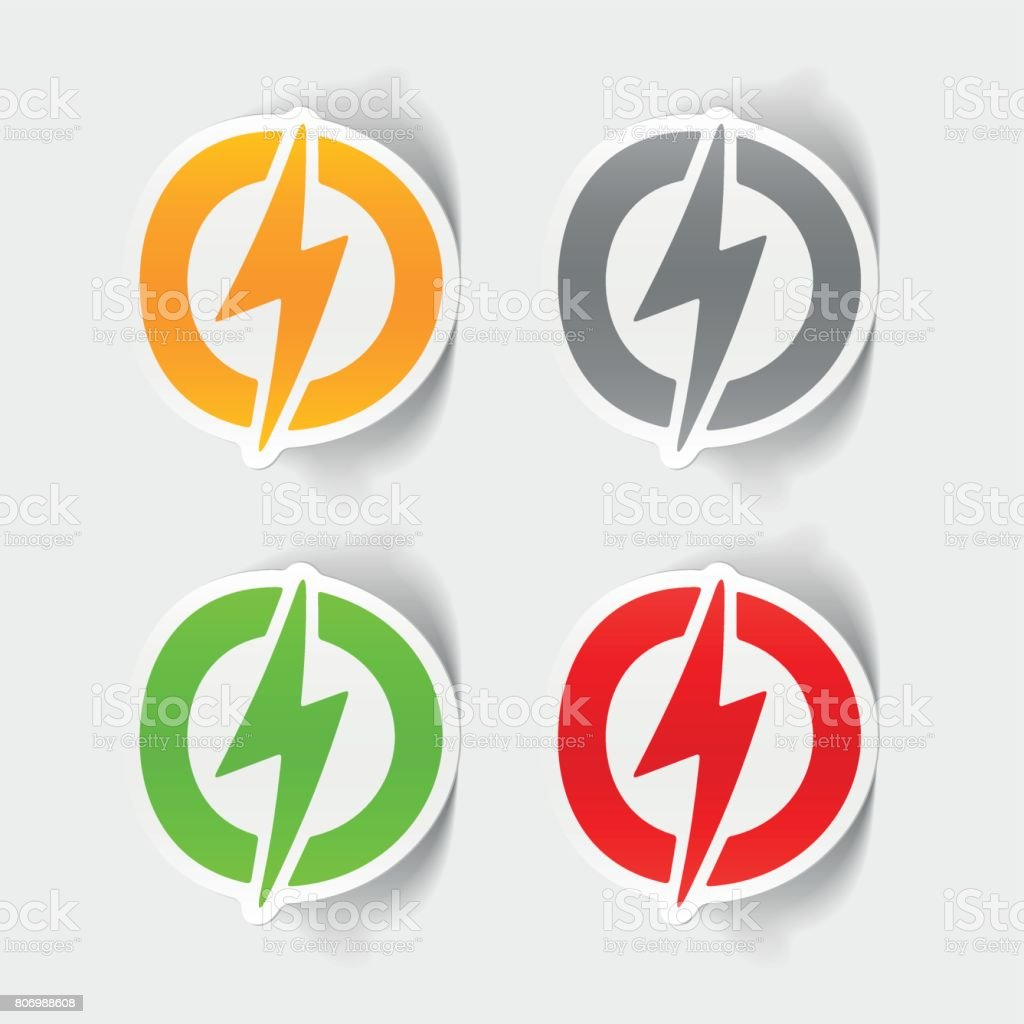 Realistic Design Element Lightning Bolt Stock Vector Art