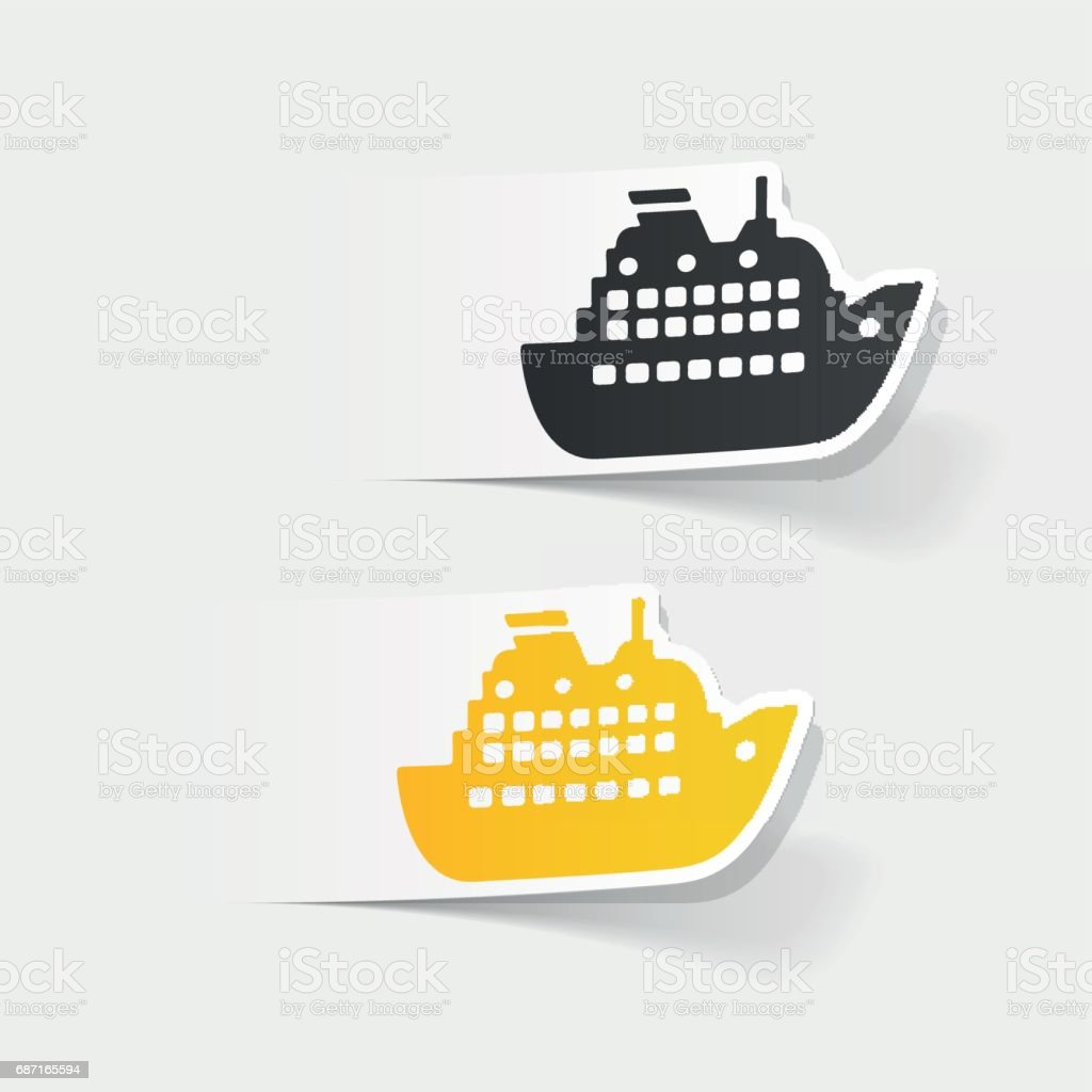 realistic design element: liner vector art illustration