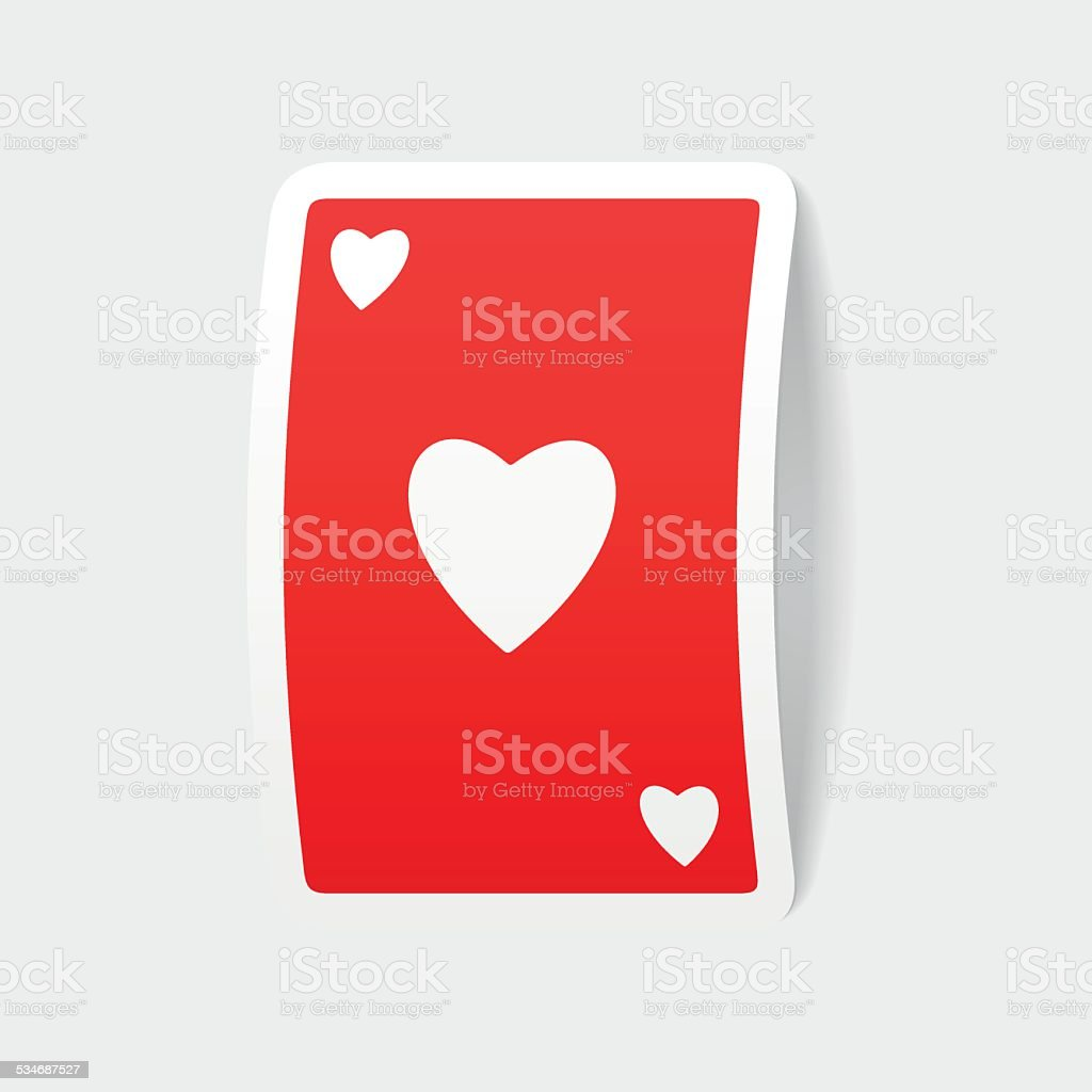 realistic design element: playing card vector art illustration