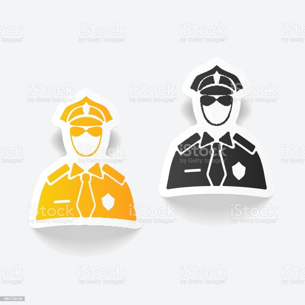 realistisk designelement. polis royaltyfri realistisk designelement polis-vektorgrafik och fler bilder på anställning