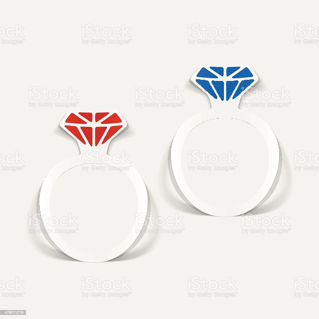realistic design element: ring vector art illustration