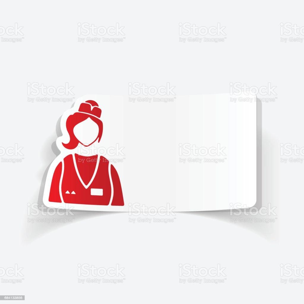 realistic design element. saleswoman realistic design element saleswoman - immagini vettoriali stock e altre immagini di abilità royalty-free