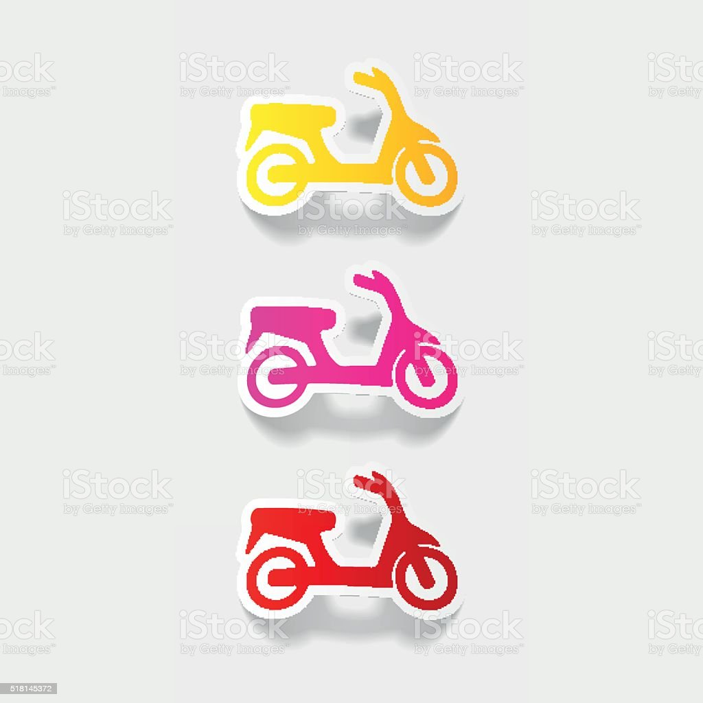 realistic design element: scooter vector art illustration