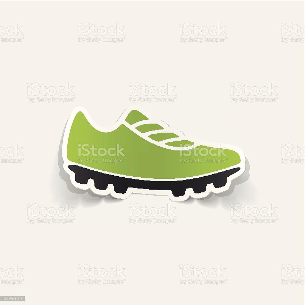 realistic design element: sneakers vector art illustration