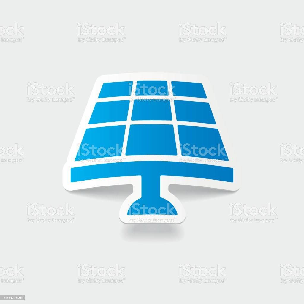 realistiska designelement: solar batteri royaltyfri realistiska designelement solar batteri-vektorgrafik och fler bilder på adapter