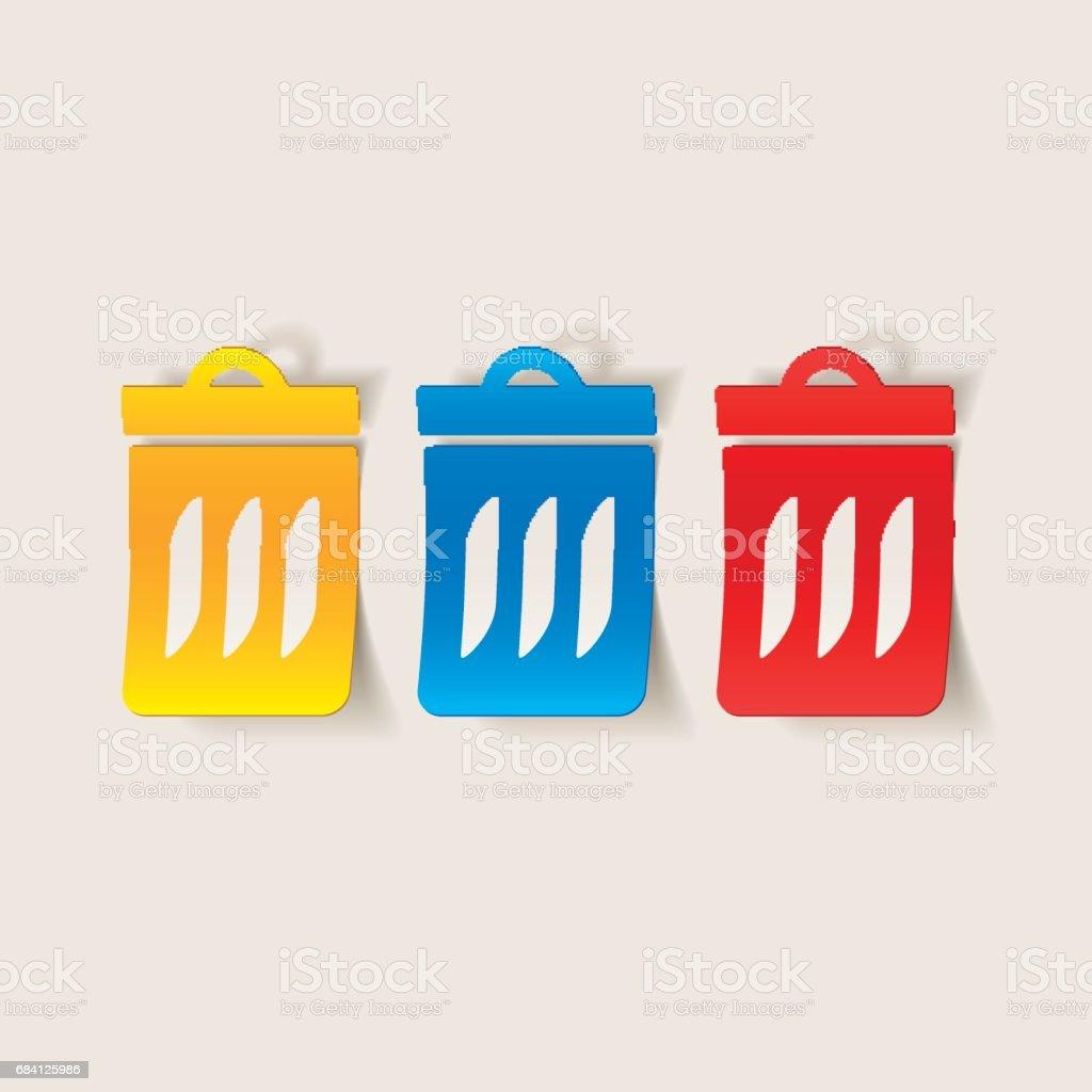 realistische ontwerpelement: vuilnisbak royalty free realistische ontwerpelement vuilnisbak stockvectorkunst en meer beelden van afval