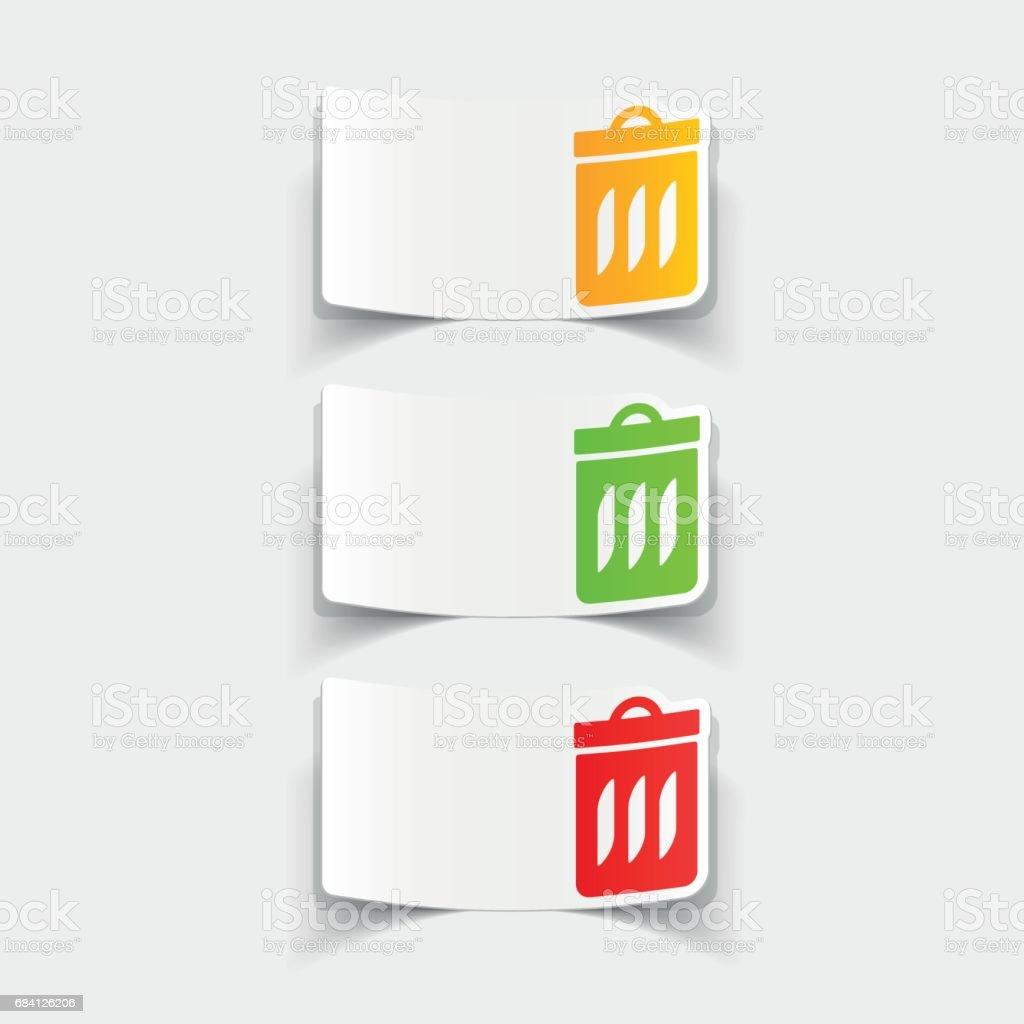 realistic design element: trash can realistic design element trash can - immagini vettoriali stock e altre immagini di ambiente royalty-free