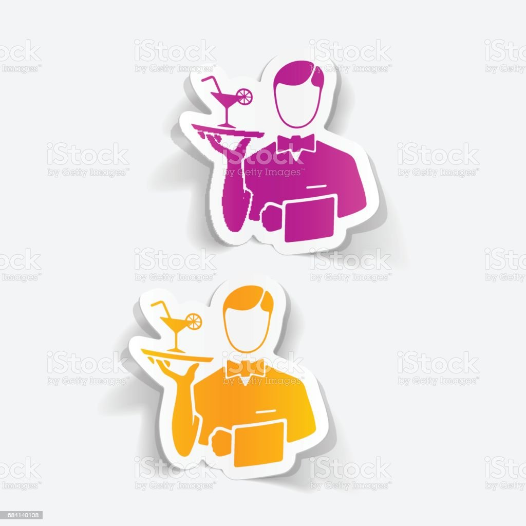 realistic design element. waiter realistic design element waiter - immagini vettoriali stock e altre immagini di abilità royalty-free