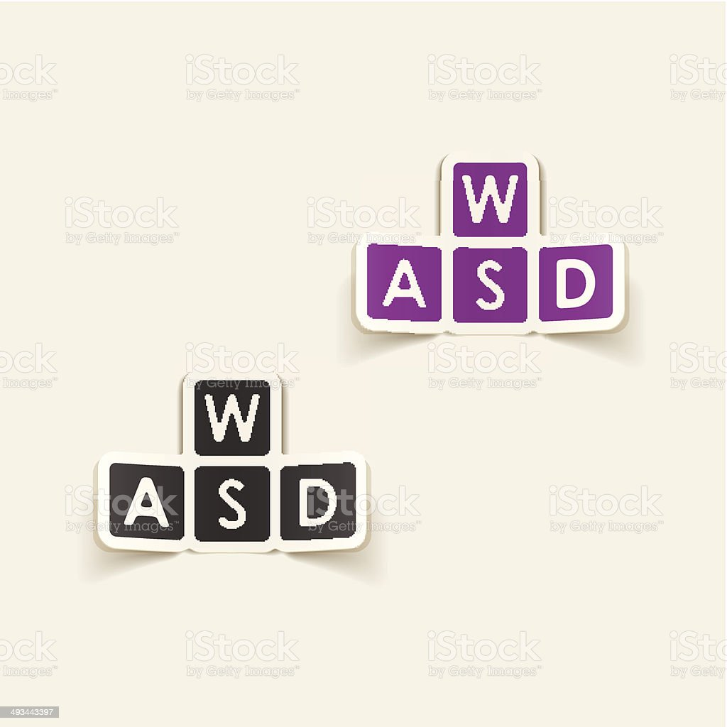 realistic design element: wasd royalty-free realistic design element wasd stock vector art & more images of alphabet