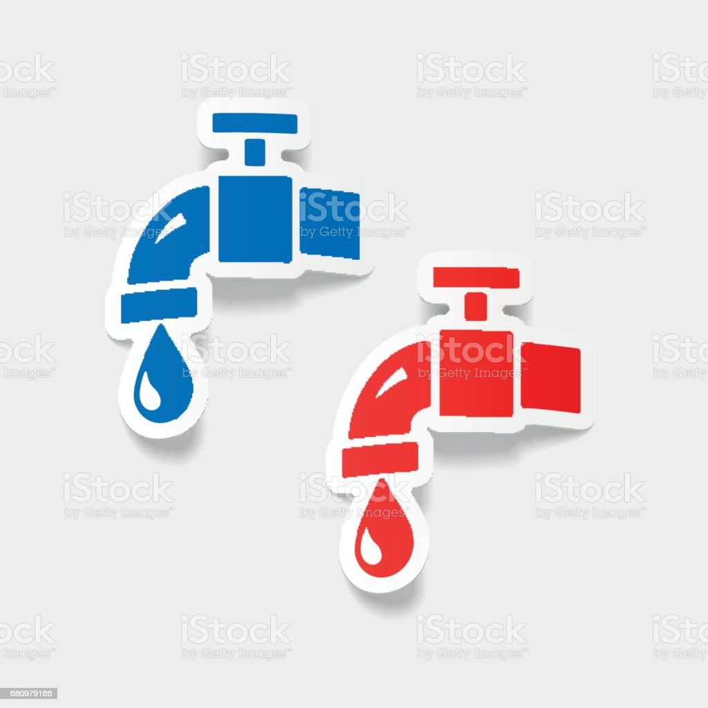 realistic design element: water tap royalty-free realistic design element water tap stock vector art & more images of analyzing