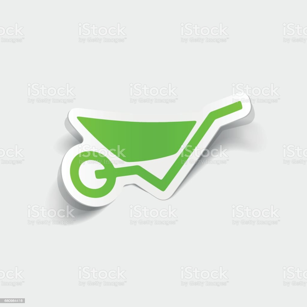 realistic design element: wheelbarrow royalty-free realistic design element wheelbarrow stock vector art & more images of arts culture and entertainment