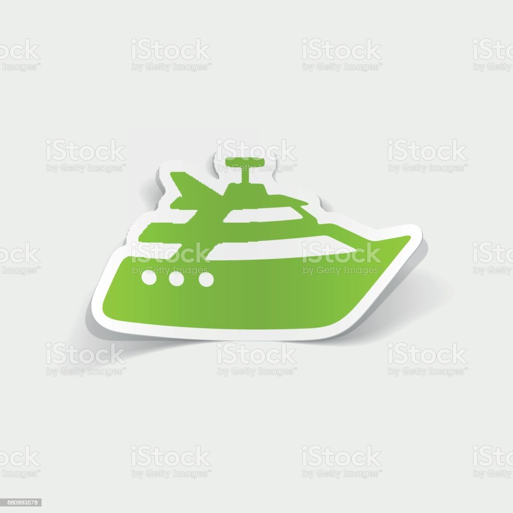 realistic design element: yacht royalty-free realistic design element yacht stock vector art & more images of arts culture and entertainment