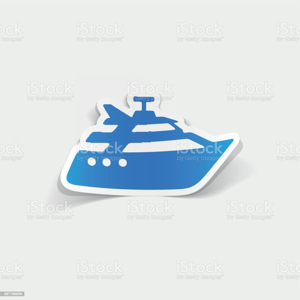 realistic design element: yacht vector art illustration