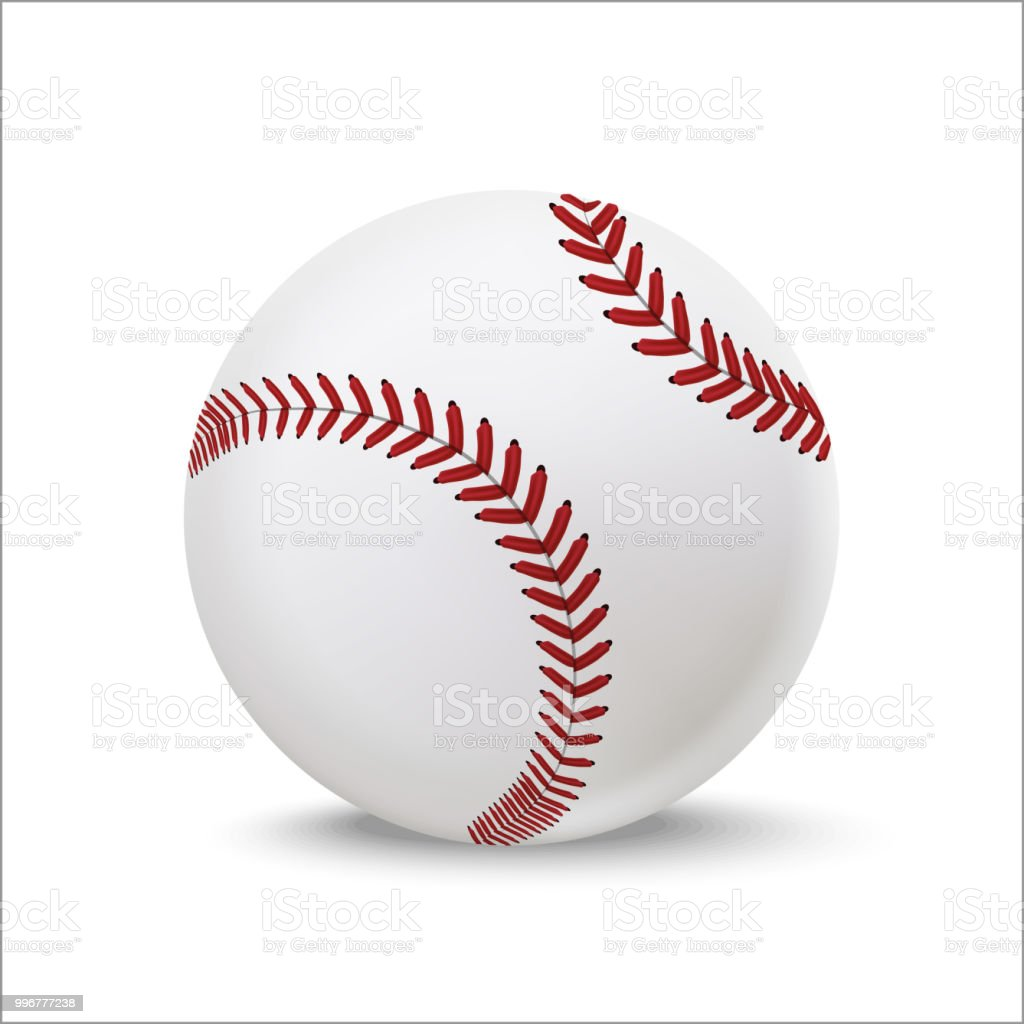 Realistic Detailed 3d Baseball Leather Ball Vector Stock Illustration Download Image Now Istock
