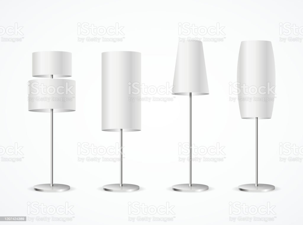 Picture of: Realistic Detailed 3d Different White Blank Floor Lamp Set Vector Stock Illustration Download Image Now Istock