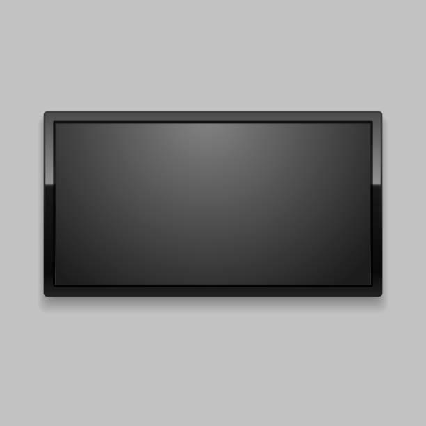 ilustrações de stock, clip art, desenhos animados e ícones de realistic detailed 3d led tv screen. vector - led painel