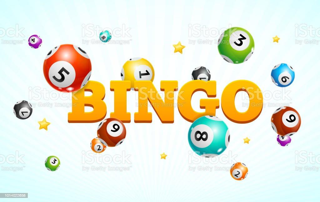 Realistic Detailed 3d Lotto Bingo Concept Card Background. Vector vector art illustration