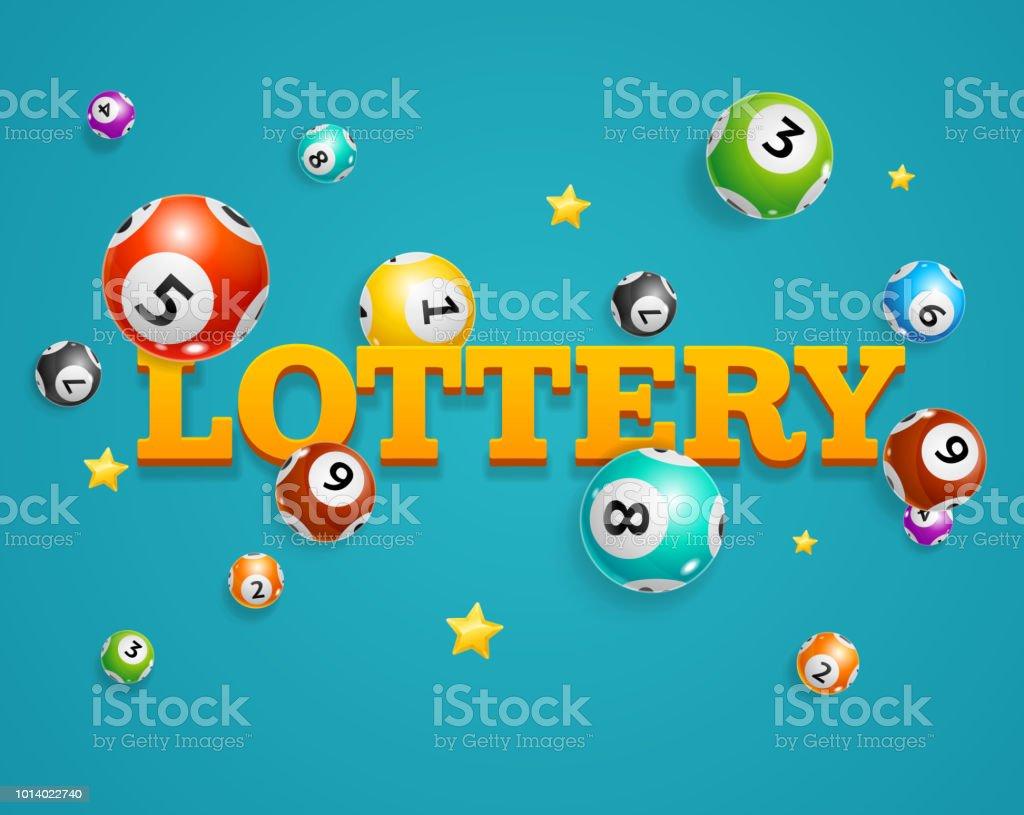 Realista detallada Lotto Bingo concepto tarjeta fondo 3d. Vector de - ilustración de arte vectorial