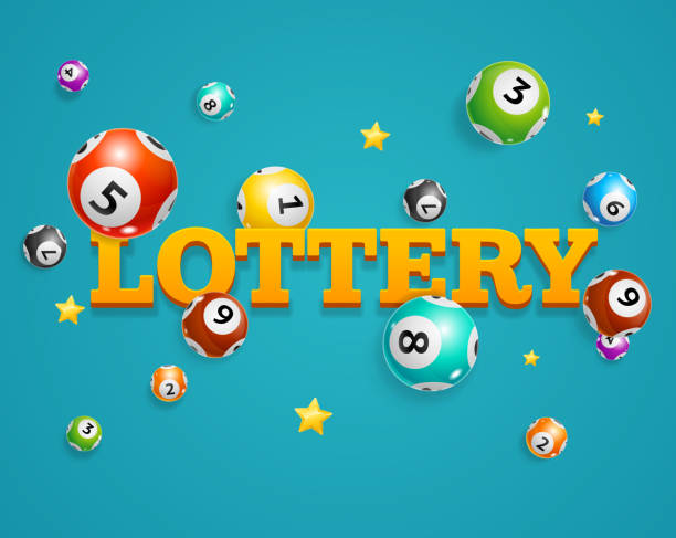 Realistic Detailed 3d Lotto Bingo Concept Card Background. Vector Realistic Detailed 3d Lotto Bingo Concept Card Background Symbol of Game on a Blue. Vector illustration of Falling Lottery Balls lottery stock illustrations