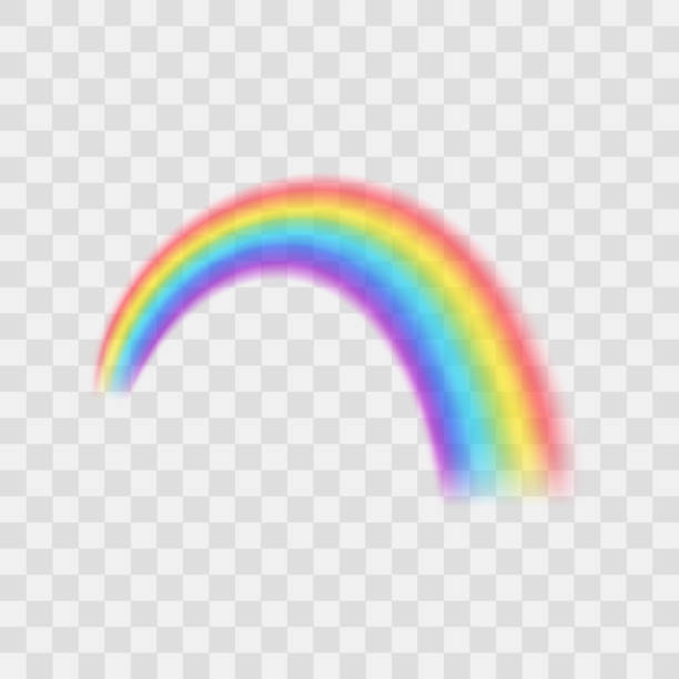 Realistic Detailed 3d Rainbow on a Transparent Background. Vector Realistic Detailed 3d Rainbow on a Transparent Background Symbol of Fantasy. Vector illustration rainbow stock illustrations