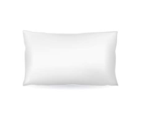 Realistic Detailed 3d Template Blank White Pillow Mock Up. Vector