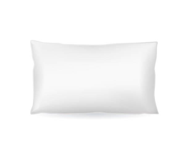 Realistic Detailed 3d Template Blank White Pillow Mock Up. Vector vector art illustration