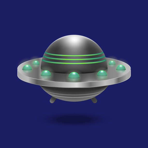 OVNI 3d detallado realista vuelo nave espacial. Vector de - ilustración de arte  vectorial 07c5c2ff9f8