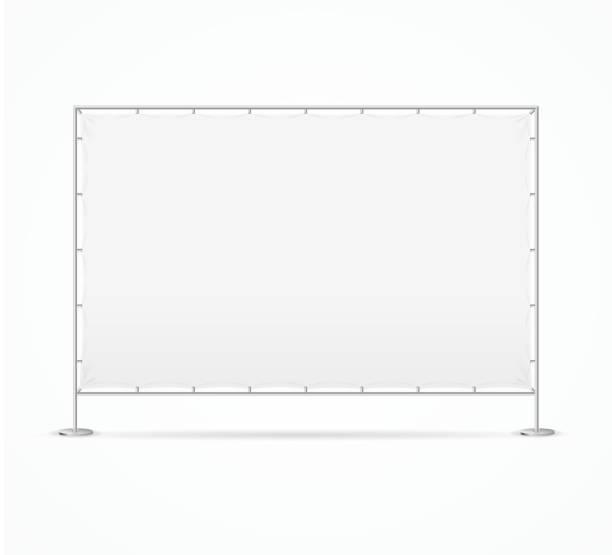 逼真細緻的3d 空白廣告展臺範本模型。向量 - 控制板 幅插畫檔、美工圖案、卡通及圖標