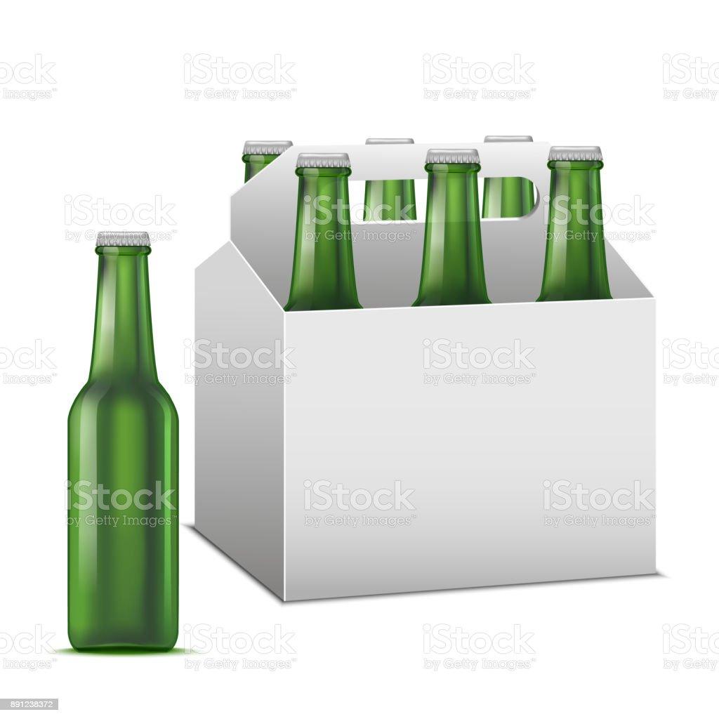 Réaliste de bière détaillée Sixpack alcoolique boisson. Vector réaliste de bière détaillée sixpack alcoolique boisson vector vecteurs libres de droits et plus d'images vectorielles de affaires finance et industrie libre de droits