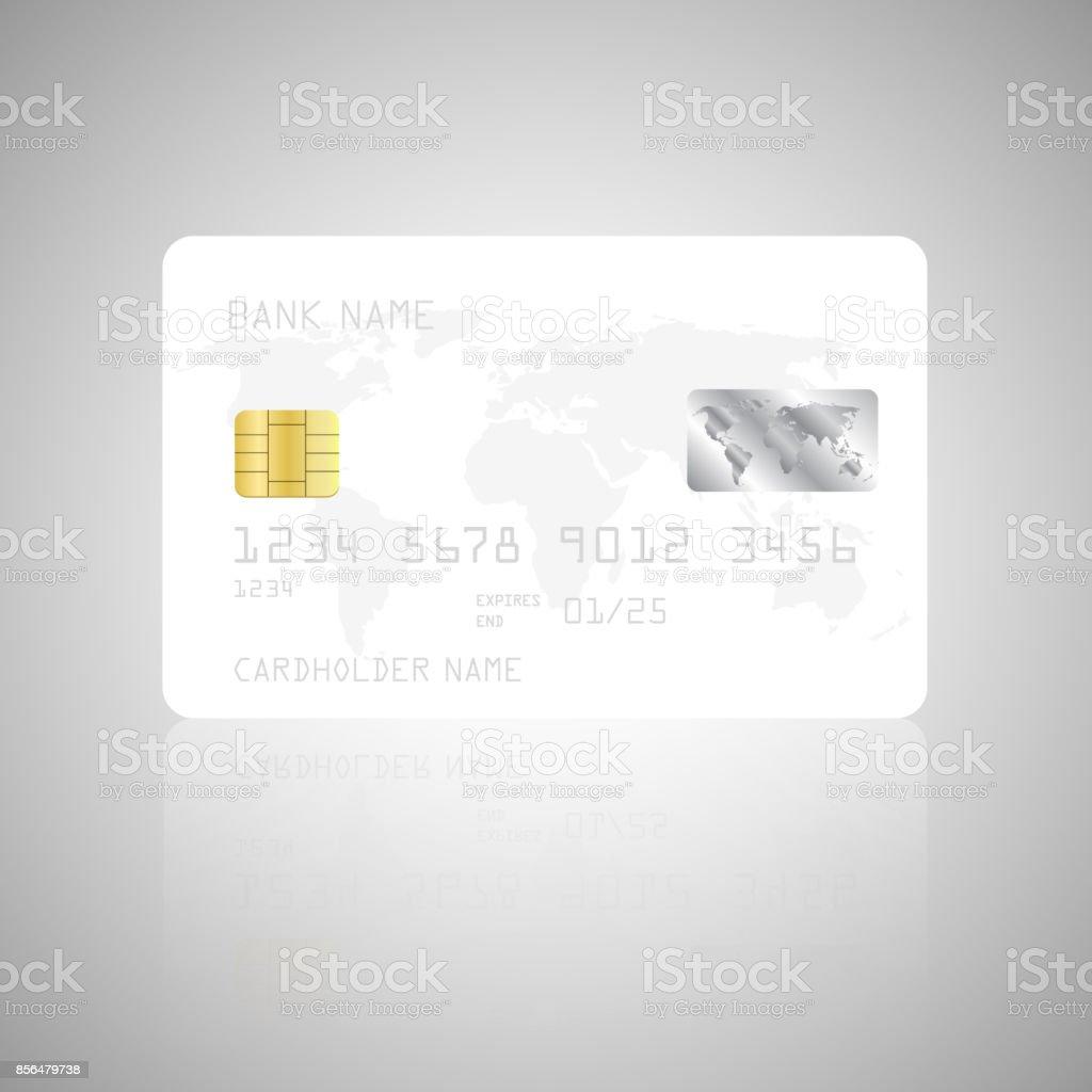 Realistische Detaillierte Kreditkarte Vorlage Vektor Illustration ...