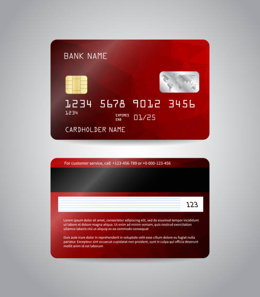 Realistic detailed credit card vector art illustration