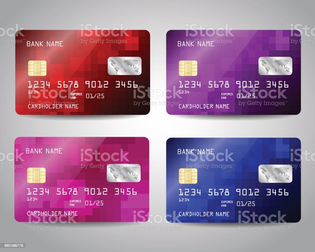Realistic detailed credit cards set royalty-free realistic detailed credit cards set stock vector art & more images of atm