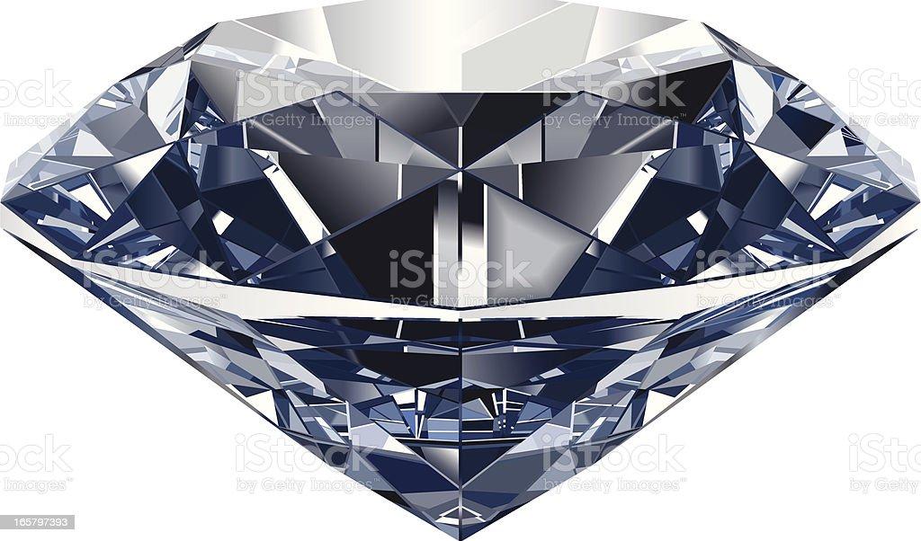Realistic Diamond vector art illustration
