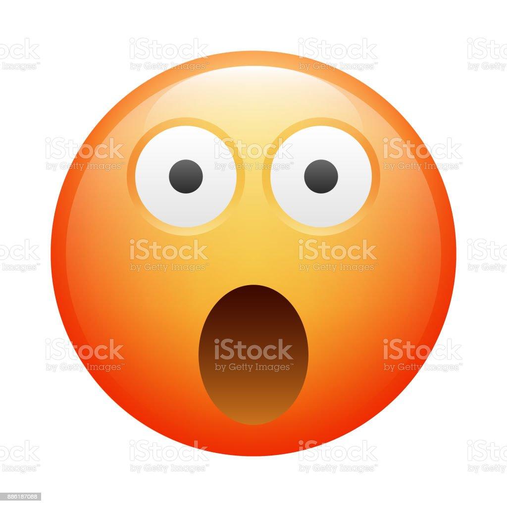 Realistische emoji – Vektorgrafik