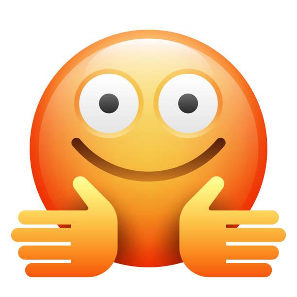 ilustrações de stock, clip art, desenhos animados e ícones de realistic emoji - future hug
