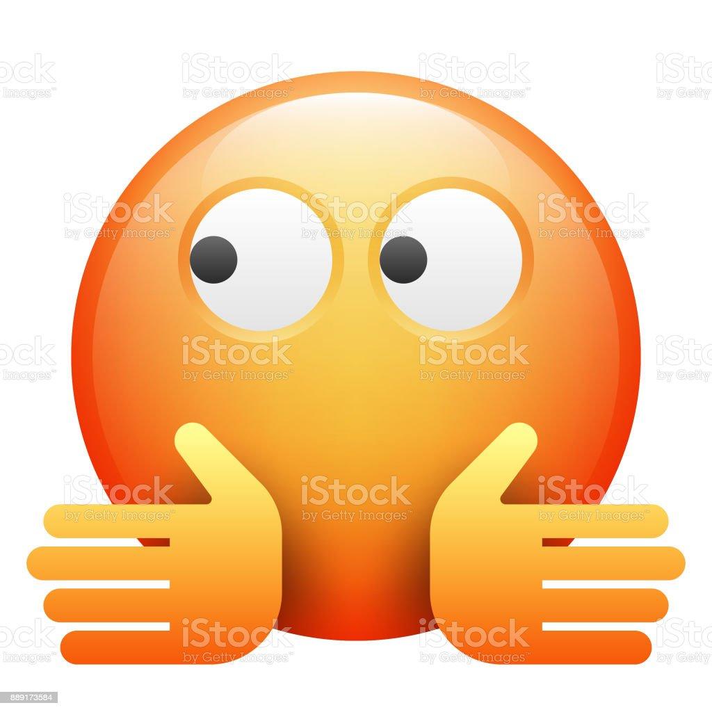 Emoji realista - ilustração de arte em vetor