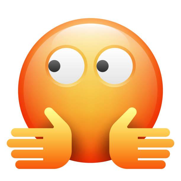 realistische emoji - verwirrtes emoji stock-grafiken, -clipart, -cartoons und -symbole